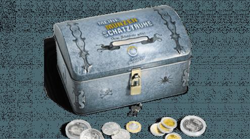 Schatztruhe für Münzen