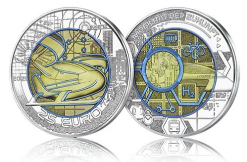 Silver Niobium Coins