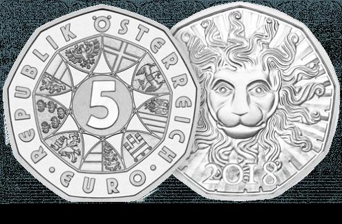 5 Euro Coin in silver