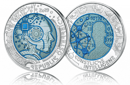 Symbolbild Silber-Niob-Münzen