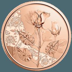 10 Euro Kupfermünze Die Rose