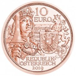 10 Euro copper coin Chivalry avers