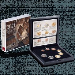 Euromünzensatz 2021 Polierte Platte