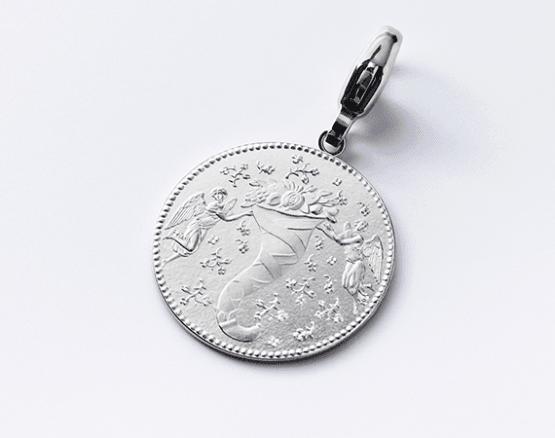 Motiv Glück in Silber