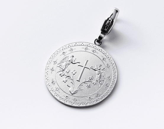 Motiv Kreuz in Silber