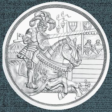 10 Euro silver coin chivalry reverse