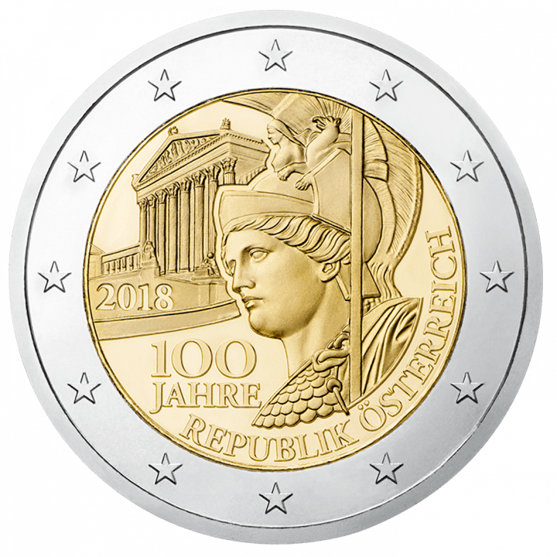 2 Euro 100 anniversary of the republic of Austria Avers