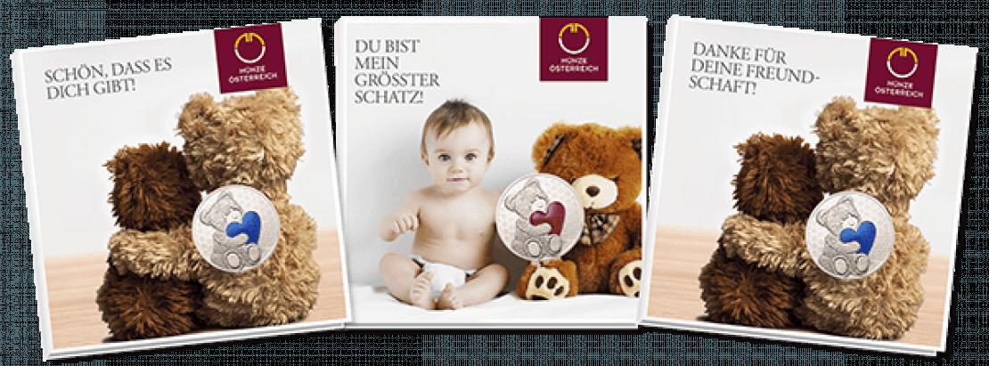 Verpackung Teddybärmedaillen