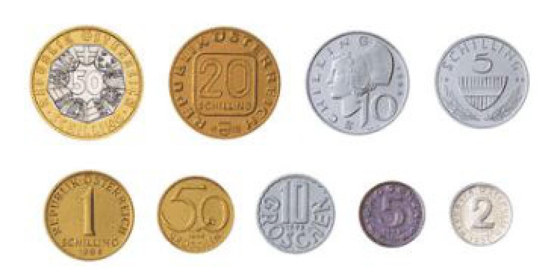 Schilling-Umlaufmünzen