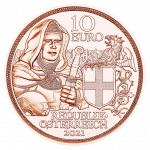 10 euro copper coin brotherhood avers