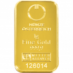 1 gramme gold bar