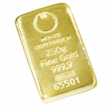 250 gramme gold bar