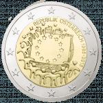 2-euro coin European Union Flag
