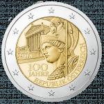 2 Euro 100 anniversary of the republic of Austria Avers