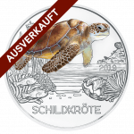 3-euro coin colourful creatures 2019 the turtle sold out