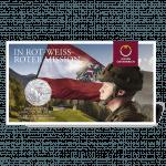 5-euro coin Austrian army blister