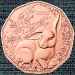 5-Euro Osterhase Revers