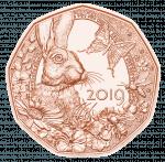 5 Euro copper coin Spring awakening