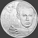 20-euro coin 2012 Schiele avers