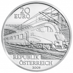 20-euro coin 2009 future of railways avers