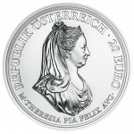Silver coin Maria Theresa clemency
