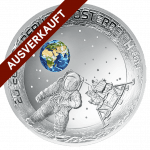 silver coin 50th anniversary of the moon landing