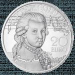 20-euro coin 2016 genuis Mozart avers