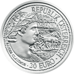 20-euro coin 2010 Virunum avers