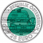 25-euro coin 2004 Semmering railway avers