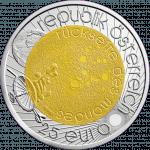 25-euro coin 2009 astronomy avers