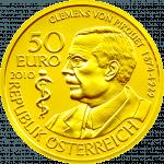 Goldmünze Clemens von Pirquet