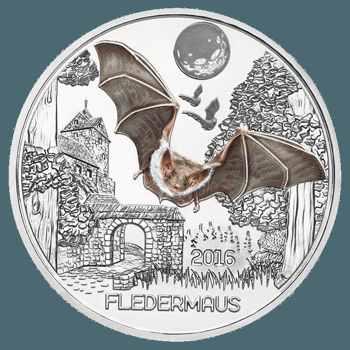 3 Euro Tier Taler Die Fledermaus