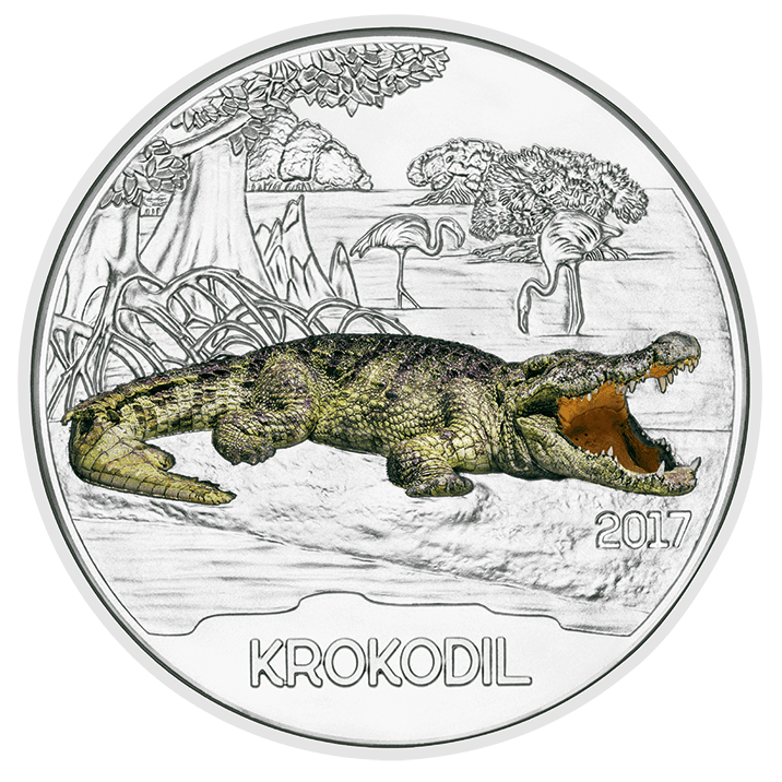 3 Euro Tier Taler Der Wolf Bunte Münzen Mit Leuchteffekt