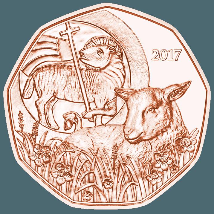 5 Euro Kupfermünze Das Osterlamm