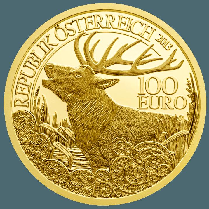 100 Euro Goldmünze Der Rothirsch