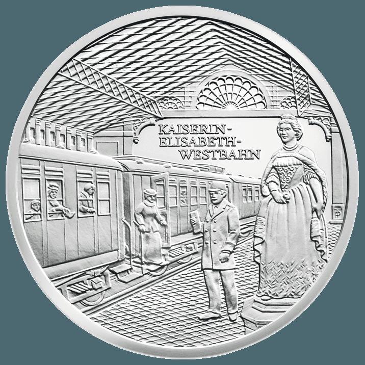 20 Euro Silbermünze Kaiserin Elisabeth Westbahn
