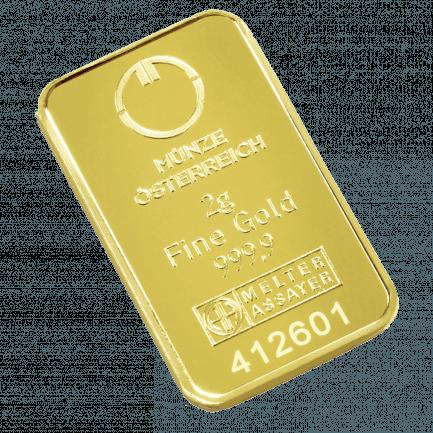 2 Gramm Prägebarren Der Goldbarren Für Einsteiger