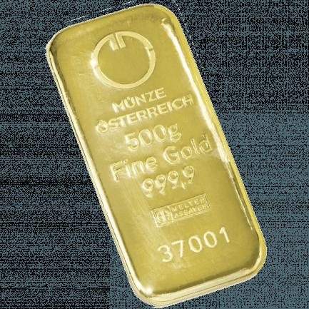 500 Gramm Goldbarren Der Münze österreich Ag