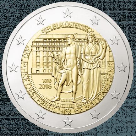 2 Euro Sondermünze 200 Jahre Oesterreichische Nationalbank