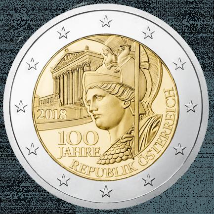 2 Euro Sondermünze 100 Jahre Republik österreich