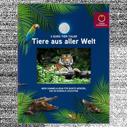 3 Euro Tier Taler Sammelalbum