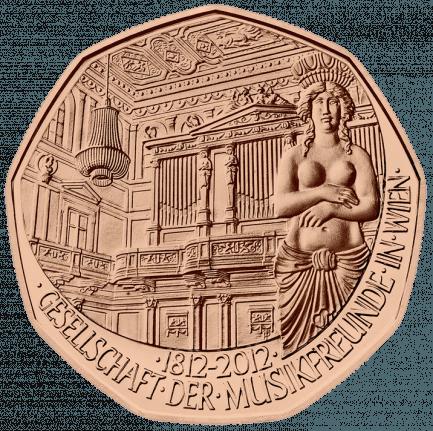 Kupfermünze 200 Jahre Gesellschaft Der Musikfreunde In Wien