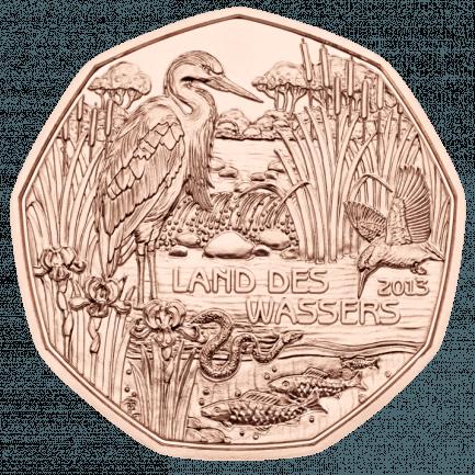 5 Euro Kupfermünze Land Des Wassers