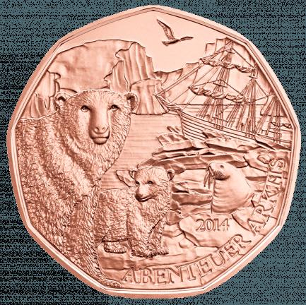 5 Euro Münze Abenteuer Arktis Aus Kupfer