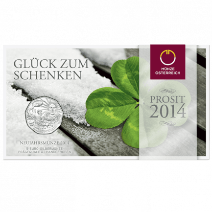 Neujahrsmünze 2014 In Silber Glück Zum Schenken Und Sammeln