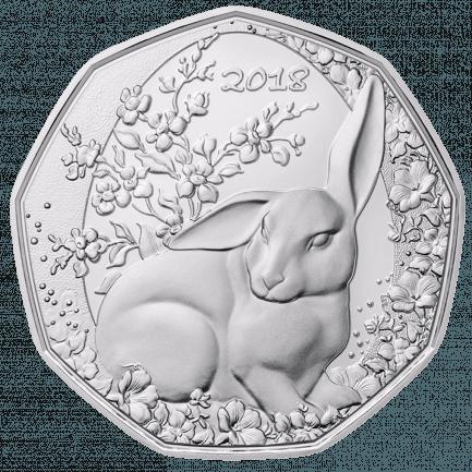 Ostergeschenkset 5 Euro Silbermünze Und Augarten Porzellan Hase