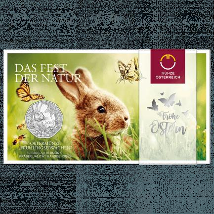 5 Euro Silbermünze Frühlingserwachen Ostern 2019