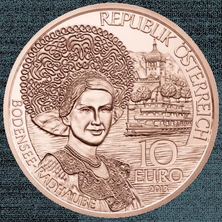 10 Euro Münze Vorarlberg In Normalprägung Kupfer