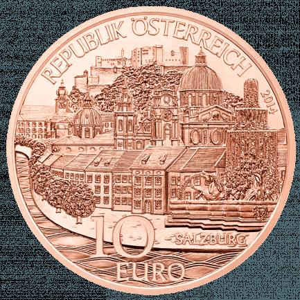 10 Euro Salzburg Münze In Normalprägung Kupfer