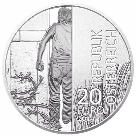 Silver Coin 25th Anniversary of the Fall of the Iron Curtain